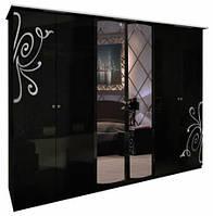 Богема (черная) Шкаф 6Дз