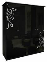 Богема (черная) Шкаф 4Д