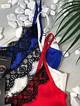 Женская стильная шелковая майка с кружевом (3 цвета), фото 2