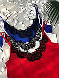 Женская стильная шелковая майка с кружевом (3 цвета), фото 3