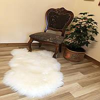 Шкура овечья для интерьера,люкс-класа, белый цвет, ковер, размер 120х75