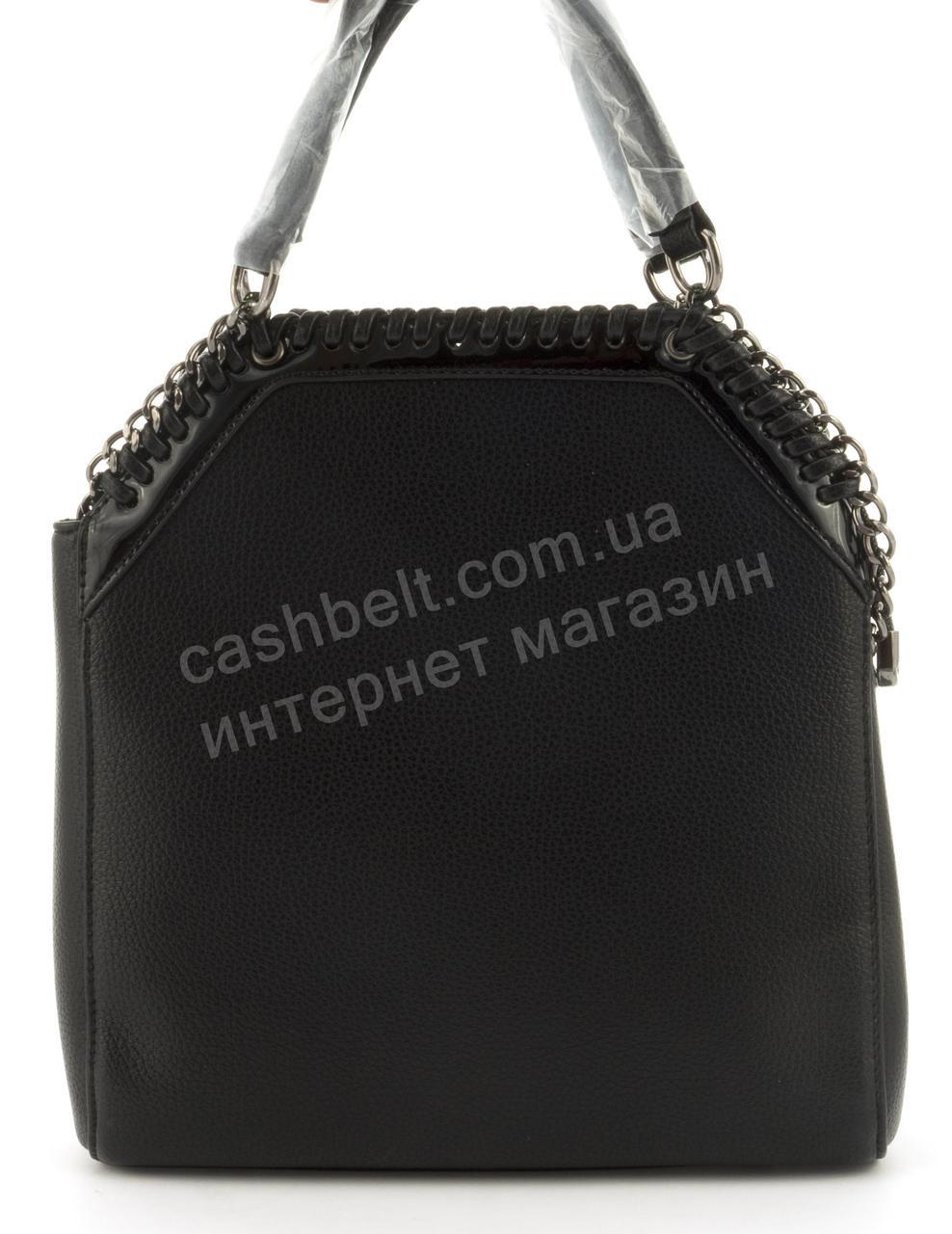 Качественная стильная прочная женская сумка с эко кожи высокого качества DIYANI art. A-965 черная