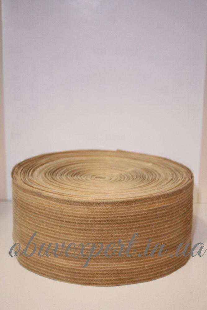 Обтяжка для каблука, кожа, 12 см, цв. светло-коричневый