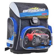 Рюкзак шкільний каркасний для хлопчика 1 ВЕРЕСНЯ H-26 Off-Road 555088, 40 * 30 * 16 см