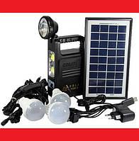 Система Освещения GD 8033 Solar Board с тремя лампами, фото 1