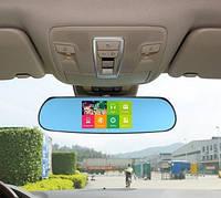 "Зеркало - видеорегистратор 5""дюймов на системе Android с GPS навигатором и видеопарковкой"