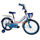 Детский велосипед Crosser Happy 20 дюймов бело-голубой, фото 2