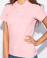 Женское поло на пуговицах розового цвета