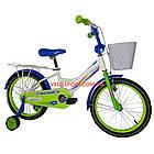 Детский велосипед Crosser Happy 20 дюймов бело-салатовый, фото 2