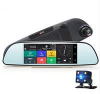 "Зеркало - видеорегистратор 6.86"" дюймов на системе Android с навигатором"