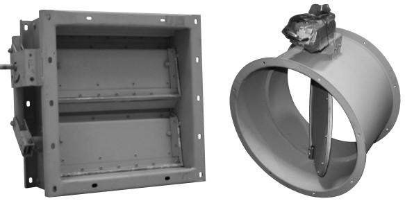 Клапан воздушный сейсмостойкий Веза НЕРПА-1000х1000-М220-Н-5000-У