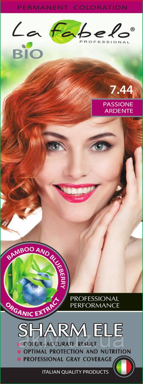 Крем-краска для волос био 50мл тон 7.44 La Fabelo Professional