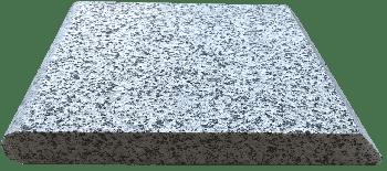 Копинговый камень из Гранита плоский серый 28 х 100 см.