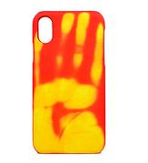 Чехол Термо на iPhone X Red(Yellow)