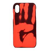 Чехол Термо на iPhone X Black (Red)