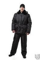 Костюм охранника зимний, черный: куртка и брюки