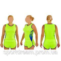 Форма для легкой атлетики женская салатовая X-511W-LG
