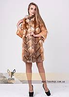 Полушубок - трансформер из натурального меха лисы