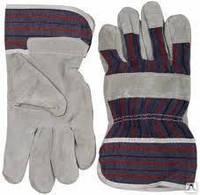 Перчатки спилковые рабочие под заказ  оптом от 50 шт