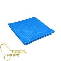 Полотенце однотонное пляж 70*145, 450-480 гр/м2, синий