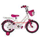Детский велосипед Crosser Mermaid 16 дюймов бело-розовый, фото 2