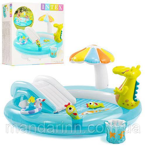 Надувной детский бассейн Аллигатор 57129 INTEX