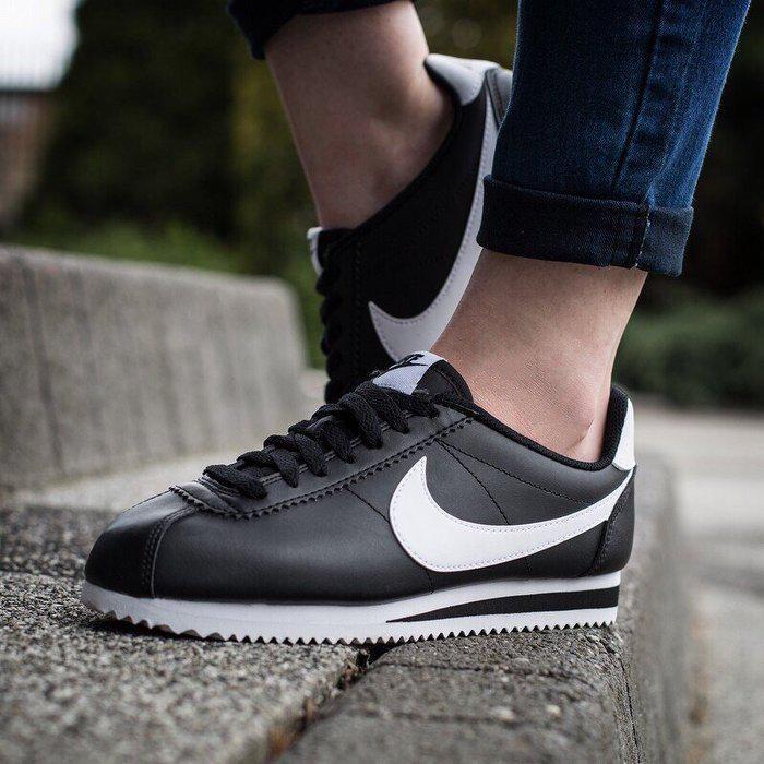 49b4aaaf Женские Кроссовки Nike Classic Cortez Leather 807471-010 (Оригинал) -  Football Mall -