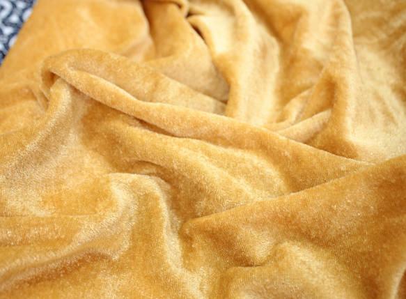 Велюр стрейчевый золото, фото 2