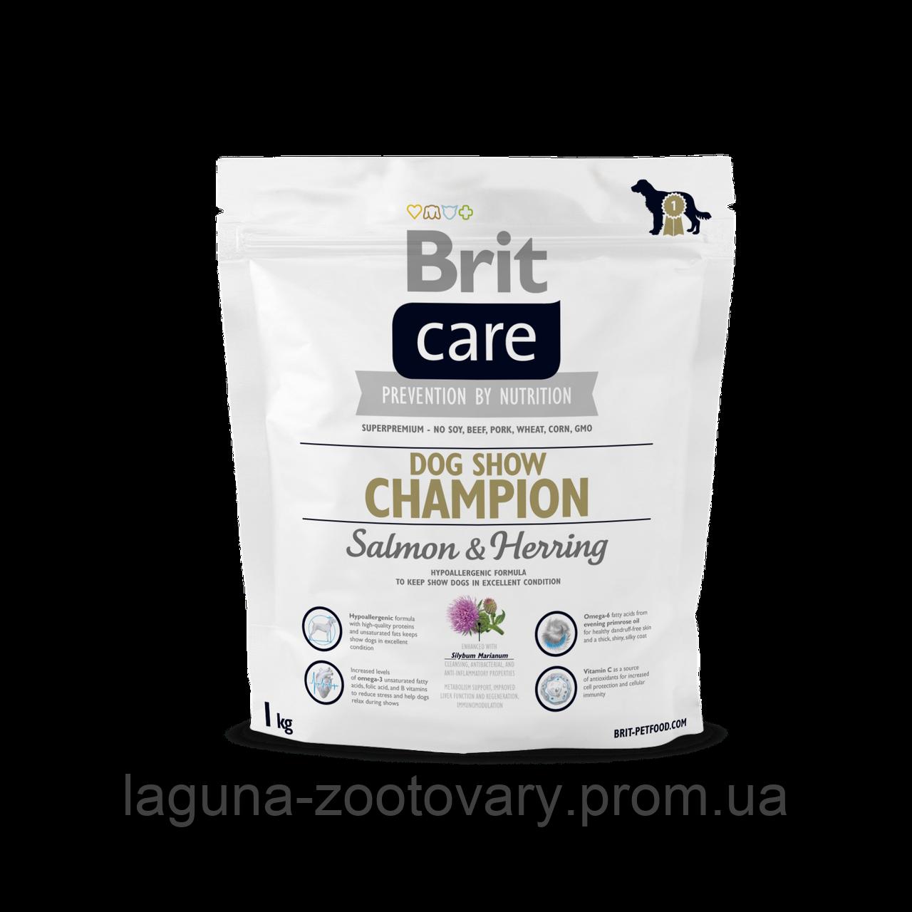 Brit Care Dog Show Champion 1 kg (д/выставочных собак)
