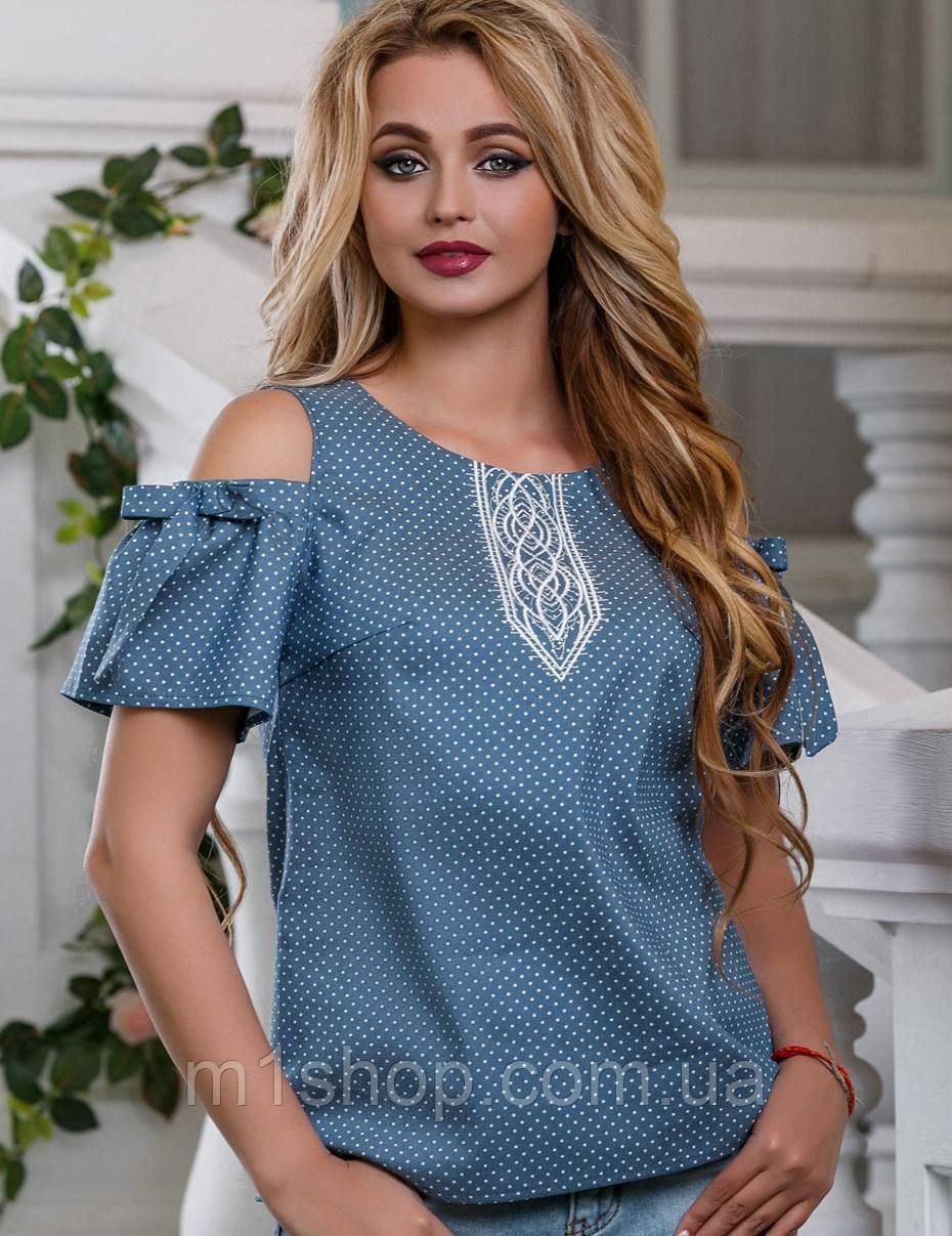 Женская блузка с вырезами на плечах (2623-2624 svt)