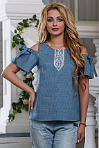 Женская блузка с вырезами на плечах (2623-2624 svt), фото 3