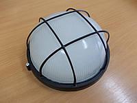 Светильник НПП1102 черный/круг с решеткой 100Вт, фото 1