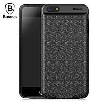 Чехол-аккумулятор Baseus Plaid Backpack 5000mAh чёрный для iPhone 6/6S, фото 1