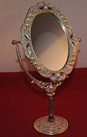 Зеркало настольное металлическое