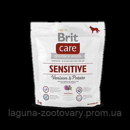 Brit Care Sensitive Venison & Potato 1 kg (д/взр. соб. всех пород с олениной), фото 2
