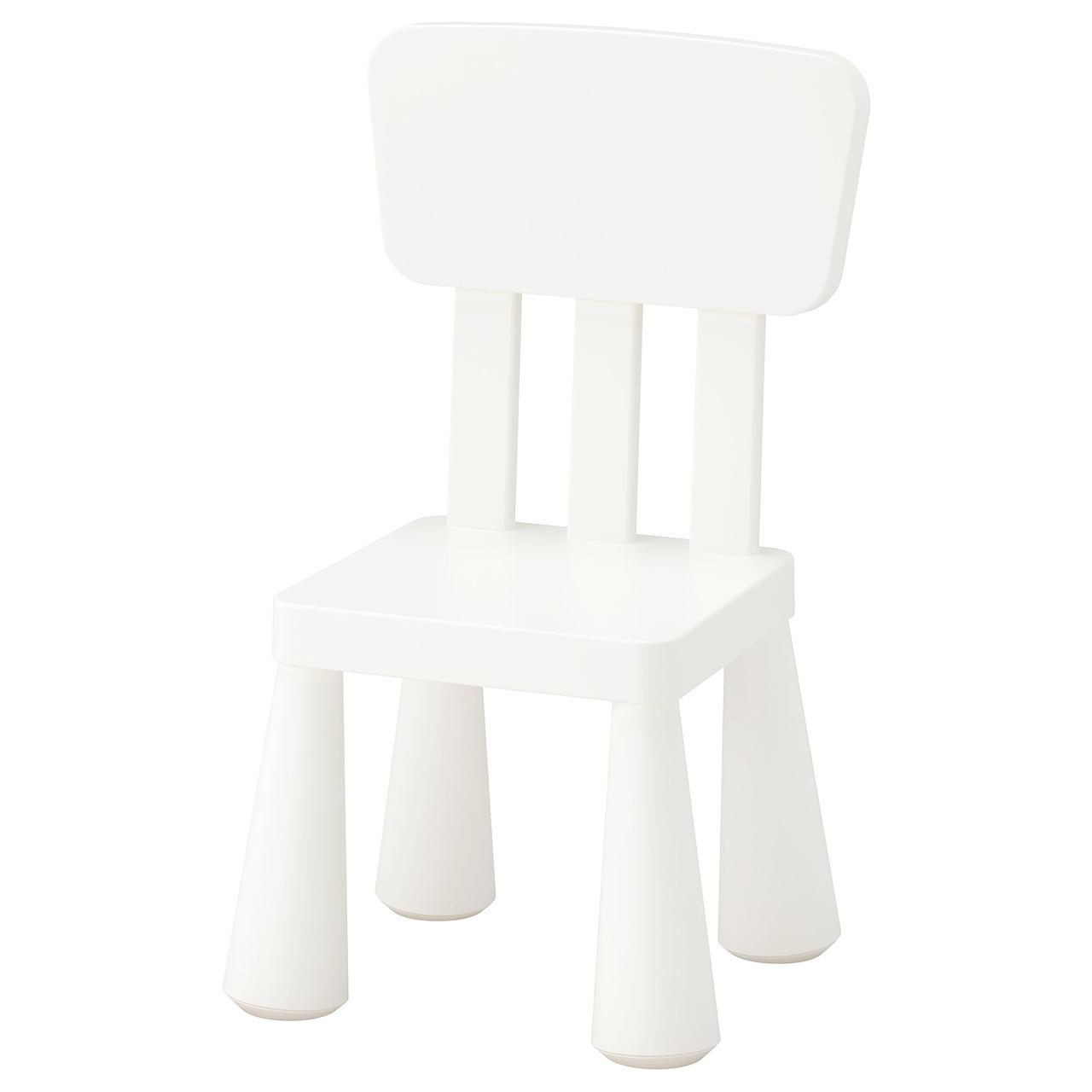 ✅ IKEA MAMMUT (403.653.71) Детский стул, белый