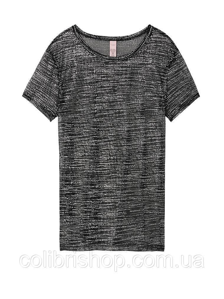 Легкая серебристая футболка Sheer Shine Tee от  Victoria's Secret оригинал США