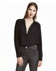 Блуза H&M Wide Cotton Blouse US 8