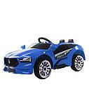 Электромобиль спорткар T-7624 BLUE для деток 3-8 лет с пультом мотор 2*20W с MP3, фото 2
