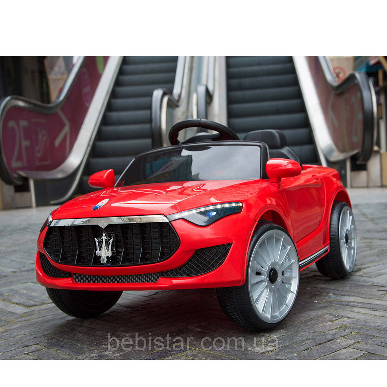 Электромобиль спорткар T-7628 RED для деток 3-8 лет с пультом мотор 2*20W с MP3