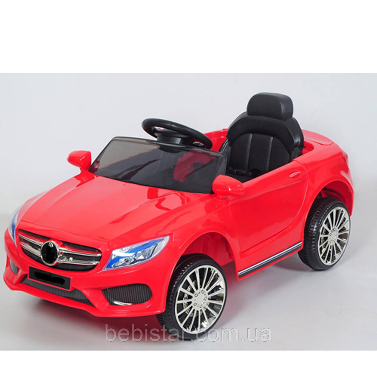Електромобіль спорткар червоний T-7620 EVA RED для дітей 3-8 років з MP3