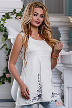Женская блузка-туника без рукавов (2626-2625 svt), фото 3