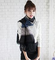 Шерстяной теплый женский шарф