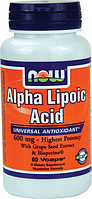 Альфа липоевая кислота, Now Foods, Alpha Lipoic Acid, 600 mg, 60 Caps