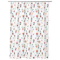 IKEA ROSENFIBBLA (003.247.97) Занавески для душа, белый, цветочный узор