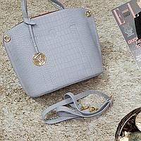 Женская сумка серая средняя повседневная, фото 1