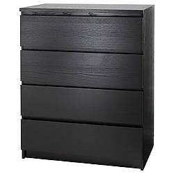 ✅ IKEA MALM (304.035.66) Комод, 4 ящика, белый