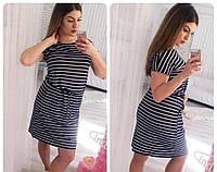 """Платье """"Элина"""". Большие размеры 52-54, темно-синий"""