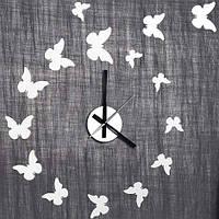 """Декоративная виниловая наклейка с часами """"Бабочки"""" Feron NL24"""