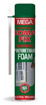 Піна монтажна SOMA FIX ручна MEGA 850 мл, всесезонна, фото 2